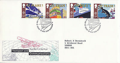 10 MAY 1988 TRANSPORT & COMMUNICATION ROYAL MAIL FIRST DAY COVER GLASGOW SHS (x)