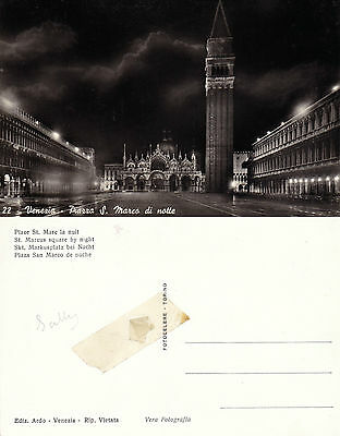 1960's SAINT MARCO SQUARE VENICE ITALY UNUSED REAL PHOTOGRAPH POSTCARD