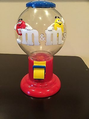 M & M Candies Vintage Gum Ball Candy Dispenser/Red&Yellow M & M Characters MARS
