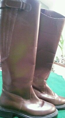 Shires Brown Long Leather Riding Boots size 4(37)