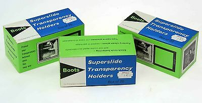 Super Slide Glass Mounts By Boots - 3x Boxes Of 20.