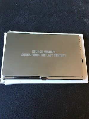 ❣RARE❣PROMO BUSINESS CARD HOLDER•Songs From The Last Century~George Michael Wham