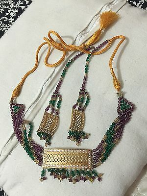 22ct Real Gold sparkling pendant Patti set with matching earrings & Necklace