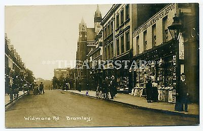 RP BROMLEY Widmore Road STATIONERY SHOP Postcards LONDON Kent