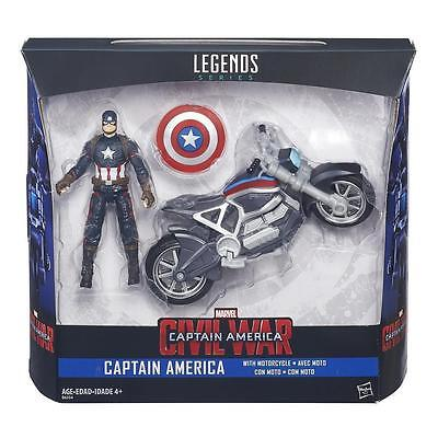 Captain America with Motorcycle 3.75 inch Figure Marvel Legends Series