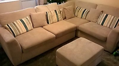 L shape sofa only two year old must go plus extras nice lot - read description