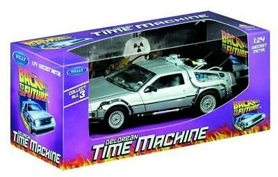Back To The Future - DeLorean Die Cast 1:24 Scale - Welly Free Shipping!