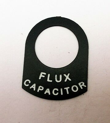 Back to the future DeLorean dashboard switch FLUX CAPACITOR switch tag