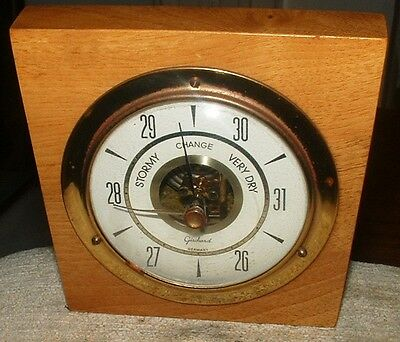 Vintage Aneroid Barometer by Gischard of Germany