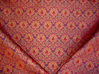 10+Y Kravet / Lee Jofa Arabesque Lapis Fleur Silk Brocade Upholstery Fabric