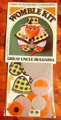LOVELY Vintage Wombles Uncle Bulgaria Felt Model Kit 1970s Unopened BBC MIB WOW!