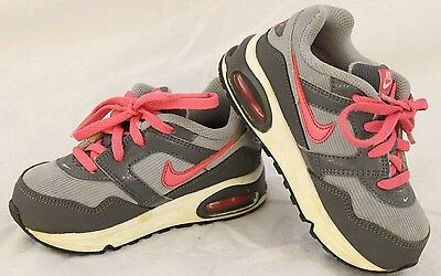 NIKE Size 8C Girls Pink And Gray Air Max Navigate Athletic Low Top Sneaker Shoes