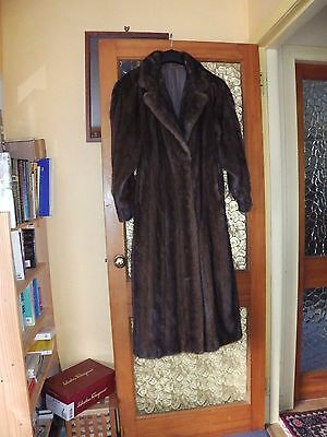 Mink Coat Lunaraine taupe/brown color VINTAGE real fur Size 14-16 Good Condition