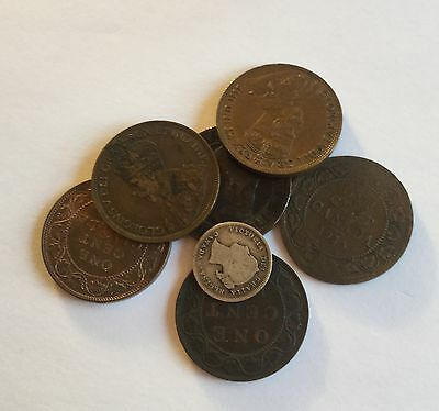 Small Collection of Canadian Coins 1897 -1916