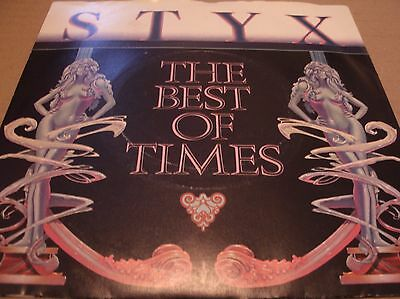 Styx-The Best Of Times- Ams8102 Uk 1980 Laser Etched + Pic Sleeve