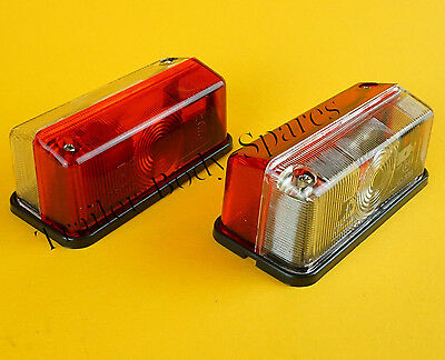FREE UK Post - 2 Red/Clear Outline Marker Lamp Light for Horsebox Trailers