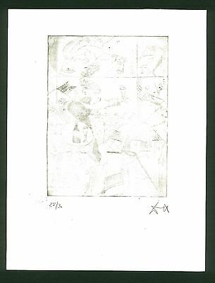 OTTO DIX - etching on original paper of '50s -expressionism
