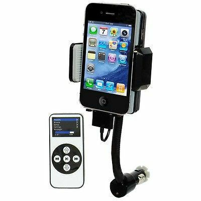 Transmetteur fm support kit mains libres iphone 3gs 4 4s ipod touch telecommande