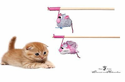 Trixie My Little Prince Or Princess Wooden Cat Kitten Tickler Teaser Play Toy