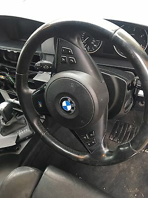 BMW E60 E61 E63 5 6 Series M Sport 3-Spoke Leather Steering Wheel and Airbag