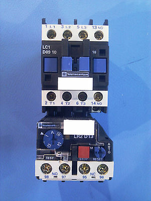 Telemecanique electromagnetic starter LR2-D13 thermal overload/ LC1-D Contactor