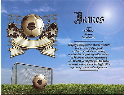 """""""Sports Soccer"""" Name Meaning Print Personalized (Sports, Soccer)"""