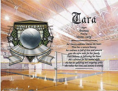 """Sports Volleyball"" Name Meaning Print Personalized (Sports, Volleyball)"