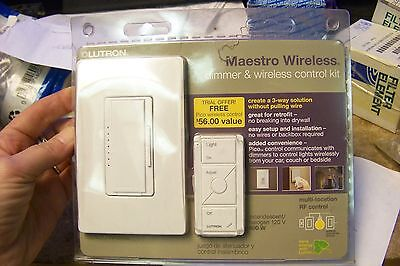 new Lutron MRF2-PICO-WH Maestro Wireless Digital Dimmer; White Color