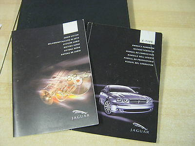 JAGUAR X-TYPE OWNERS MANUAL HANDBOOK  2001-2006 and AUDIO AND WALLET