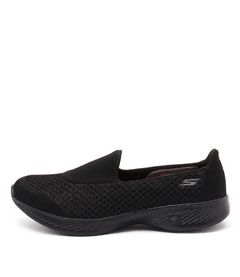 New Skechers 14145 Go Walk 4 Kindle Slip On Black Black Womens Shoes Active
