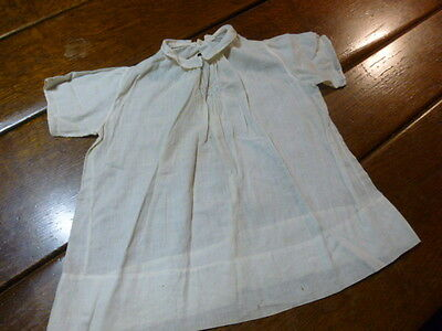 Vintage Antique Cotton Girl Baby Doll Dress Embroidered Lace Trim Nightgown