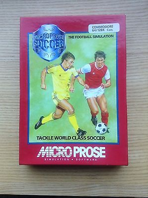 Commodore 64 Micro Prose World Class Soccer Game In Very Good Condition