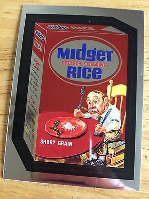 New Wacky Packages Chrome 2014 Lost Wackys Midget Rice Not Pc Short People 8 Tim