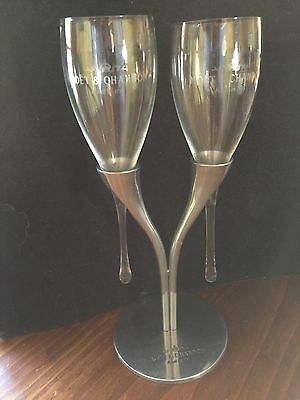 Moet & Chandon Candelabra Stand With Glass Flutes PHILIPPE DI MEO RESO DESIGN