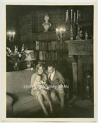 John Barrymore Dolores Costello And Daughter Vintage Portrait Photo