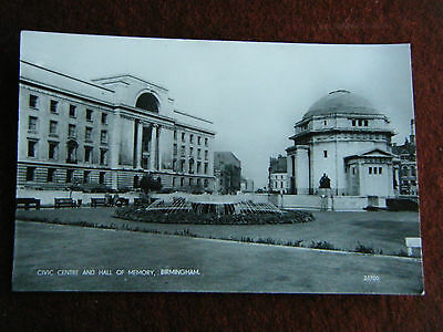Civic Centre And Hall Of Memory Birmingham  Salmon Series Real Photo Unposted