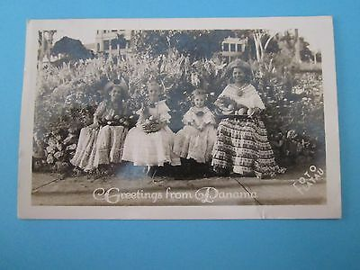 Vintage Postcard of A Greeting from Panama