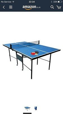 Debut Indoor Folding Table Tennis Table on Wheels 3/4 Size