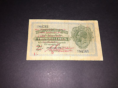1/- Over Print Of 2/- Bank Note Issued By The Government Of Malta
