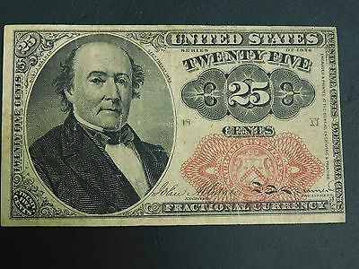 1874 U.S. 25 Cent Note!! Great Condition, One Very Small Pinhole!! See Listing!