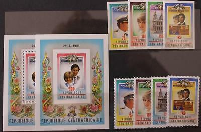 Central Africa 1982 Royal Baby Perf and Imperf Sets and Mini Sheets MNH Diana