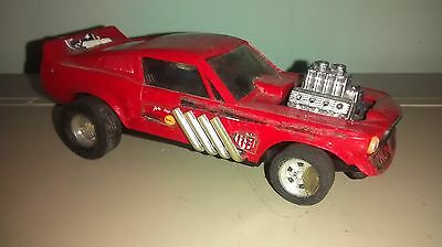 Vintage Scalextric Ford Mustang Drags  Color Rojo  Exinmex Exin Mexico
