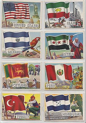 "1956 Topps ""Flags Of The World"" Complete Set of 80 Cards (EX)"
