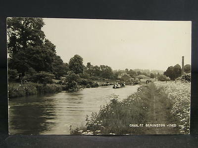 no 127  Canal  Photo Postcard  Barges at Braunston