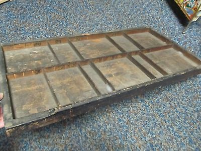 Antique WOOD PRINTERS TYPE CASE ~ Very Old HAMILTON PRINT DRAWER  Larger Section
