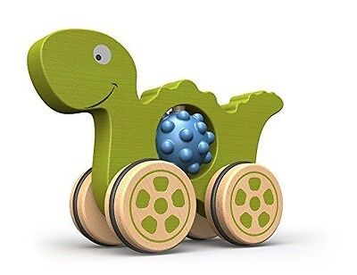 BeginAgain Nubble Rumblers - Dino Toy - Wooden Toy Dinosaur For Toddlers and Up