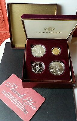 1995 United States Olympics 4-Coin Gold, Silver, and Clad Set