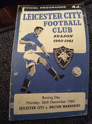 Leicester City v Bolton Wanderers 1960/61 Programme