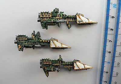 3 IMPERIAL SWORD CLASS FRIGATES Metal Battlefleet Gothic BFG Ships Painted PC3