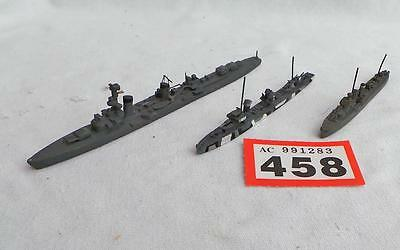 R458 3 white metal waterline ships, Richard Beitzon + 2 others